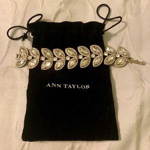Ann Taylor elaborate rhinestone bracket